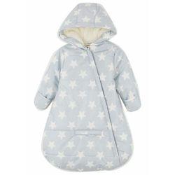 Śpiworek niemowlęcy do wózka bonprix szary stalowy - biel wełny