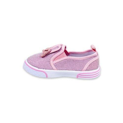 Buty sportowe dla dzieci, Trampki różowe królik z kokardą 30