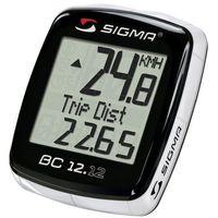 Liczniki rowerowe, 02120 Licznik rowerowy SIGMA BC 12.12 przewodowy, PL Menu, z termometrem