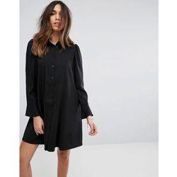 ASOS DESIGN Long Sleeve Mini Shirt Dress - Black
