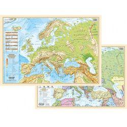 Mapa ścienna Europy polityczna/fizyczna A2 - dwustronna - scienna