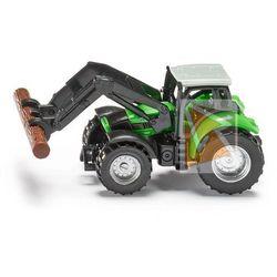 Traktor ze szczypcami do drewna