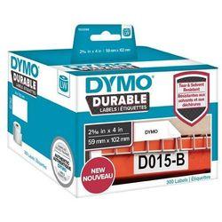 Oryginalne etykiety polipropylenowe DYMO LW 1933088 durable 102mm x 59mm białe/czarny nadruk