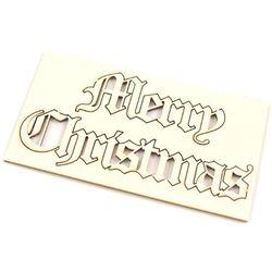 Świąteczny napis Merry Christmas - 3x6 cm - 02