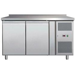 Stół mroźniczy dwudrzwiowy | -18°C/-24°C | blat z rantem | 280L | 400W | 1360x700x(H)890mm