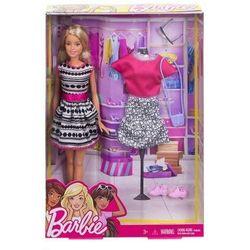 Lalka Barbie Modowe Przebieranki FFF59 Mattel