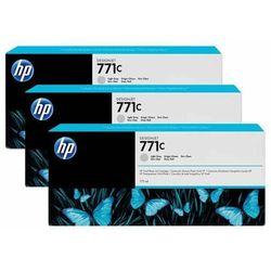 HP oryginalny ink B6Y38A, No.771C, light gray, 3szt, HP Designjet Z6200