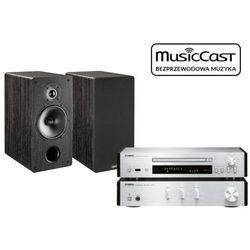 Yamaha A-670 (srebrny) + CD-NT670D (srebrny) + Tesi 261 (czarny)