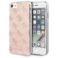 Guess GUHCI8PCU4GLPI iPhone 7/8/SE 2020 różowy/pink hard case 4G Glitter