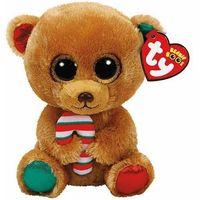 Pluszaki zwierzątka, Beanie Boos Bella - Brązowy Miś ze słodyczem 15cm