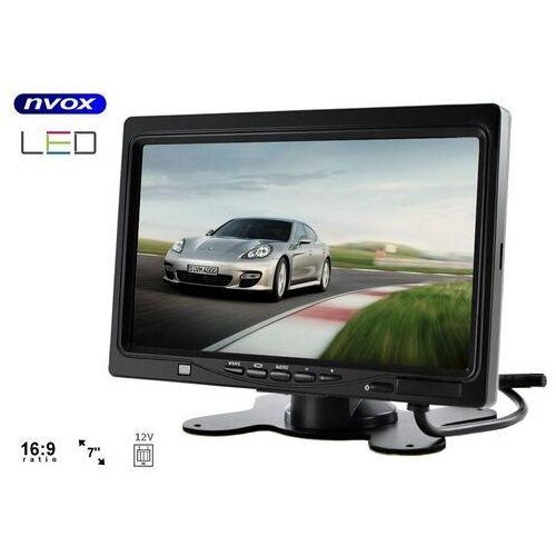 """Pozostałe car audio-video, NVOX HM 716 HD monitor zagłówkowy lub wolnostojący LCD 7"""" cali HD AV z RAMKĄ 12V"""