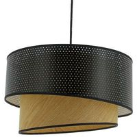 Lampy sufitowe, IONOS VINTAGE-Lampa wisząca Bawełna & Drewno Ø38cm