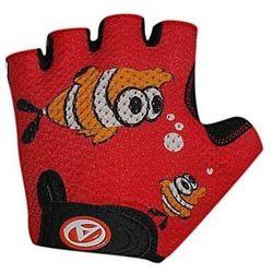 Rękawiczki kolarskie AUTHOR JUNIOR FISH dziecięce czerwone