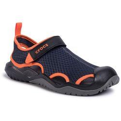 Sandały CROCS - Swifwater Mesh Deck Sandal M 205289 Navy/Tangerine
