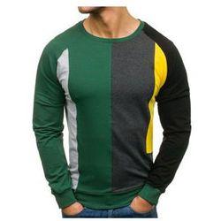 Bluza męska bez nadruku zielona Denley 0751