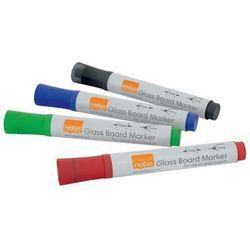 Markery do tablic szklanych NOBO 4szt. mix kolorów