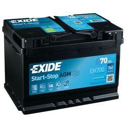 Akumulator EXIDE AGM START&STOP EK700 70Ah 760A EN