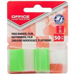 Zakładki indeksujące OFFICE PRODUCTS, PP, 25x43mm, 1x50 kart., blister, zielone