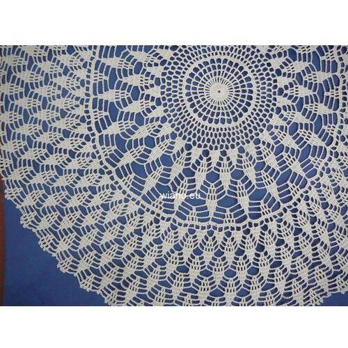 Serwety, Serweta koronkowa ręcznie robiona śred. 65 cm, ecru (bd-6)