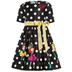 Love Made Love POLKA DOT WITH LITTLE GIRLS Sukienka koktajlowa schwarz/rosa