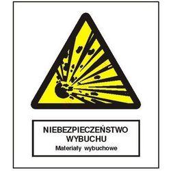 Znak Niebezpieczeństwo wybuchu - Materiały wybuchowe FB