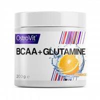 Aminokwasy, OSTROVIT BCAA+GLUTAMINE 200g ORANGE Aminokwasy