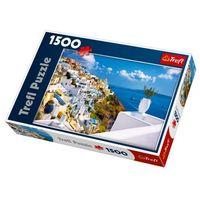 Puzzle, Puzzle Ostrov Santorini, Řecko 1500 dílků 85x58cm v krabici 40x26x6cm