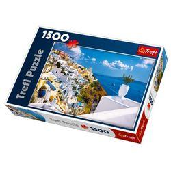 Puzzle Ostrov Santorini, Řecko 1500 dílků 85x58cm v krabici 40x26x6cm