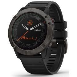 Garmin smartwatch fénix 6X PRO SOLAR, Titanium Carbon Gray DLC, Black band