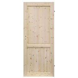 Drzwi pełne Radex Lugano 70 prawe sosna surowa