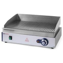 Płyta grillowa elektryczna ryflowana nastawna | 518x328mm | 2400W
