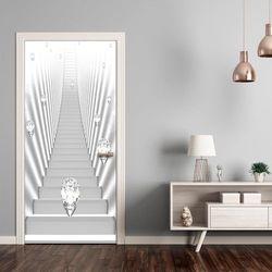Fototapeta na drzwi - Tapeta na drzwi - Białe schody i klejnoty bogata chata