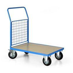 Wózek platformowy, 1000x700 mm, pełne koła, nośność 500 kg
