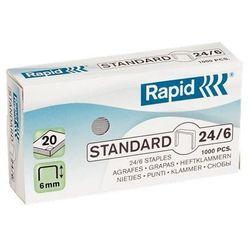 Zszywki Rapid Standard 24/6, opakowanie 1000 szt. - Autoryzowana dystrybucja - Szybka dostawa