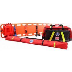 Zestaw ratowniczy PSP R1 w torbie z szynami kramera i deską SENDPOL-R1