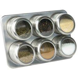 Stojak na przyprawy magnetyczny srebrny