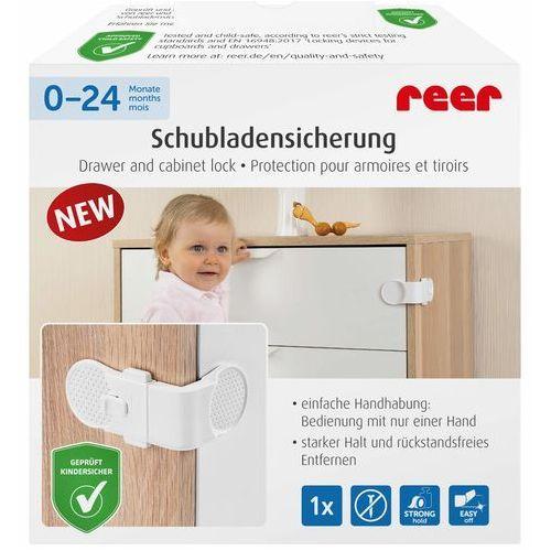 Blokady do szafek i szuflad, Zabezpieczenie szuflad kątowe przyklejane 3M REER