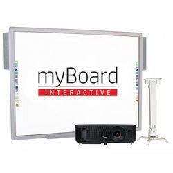 """ZESTAW! Tablica myBoard 84"""" S + projektor sufitowy + uchwyt sufitowy 43-65 cm myBoard BM4365A) + okablowanie 15 m (230V, HDMI) + GRATIS głośniki AMP-32"""