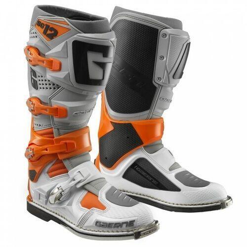 Buty motocyklowe, Gaerne buty cross sg-12 white/orange/grey