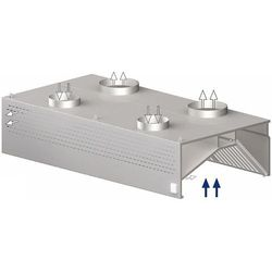 Okap przyścienny skrzyniowy kompensacyjno-indukcyjny 4700x1000x450 mm   STALGAST, 9821410470