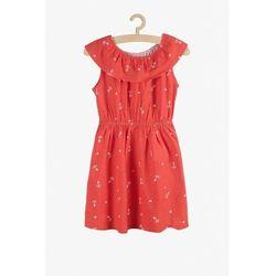 Sukienka czerwona w kotwice 3K3828 Oferta ważna tylko do 2023-10-21