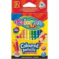 Kredki trójkątne mini 12 kolorów Colorino + zakładka do książki GRATIS