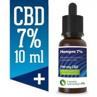 Preparaty ziołowe, Olejek konopny CBD Hempro 7% 10 ml BIO