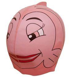 Silikonowy czepek dla dzieci SwimFin - Różowo-biały