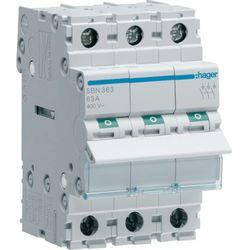Hager Modułowy rozłącznik izolacyjny 3P 100A 400V SBN390