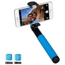 Uniwersalny kij do selfie Momax Selfie Hero z pilotem Bluetooth (100 cm) niebieski