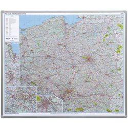 Tablica mapa 2x3 officeBoard – mapa drogowa Polski 102,5x120cm płyta magnetyczna lakierowana