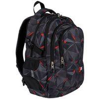 Tornistry i plecaki szkolne, Plecak 4-komorowy BP1 Czarna abstrakcja 3D