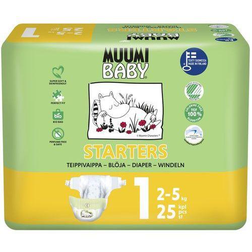 Pieluchy jednorazowe, MUUMI Baby Pieluchy 1 Newborn 25szt pieluszki hipoalergiczne i ekologiczne (2-5kg)