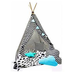 Kolorowy namiot tipi z 3 poduszkami - Loster
